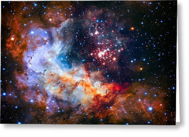 Sparkling Star Cluster Westerlund 2 Greeting Card by The Vault - Jennifer Rondinelli Reilly