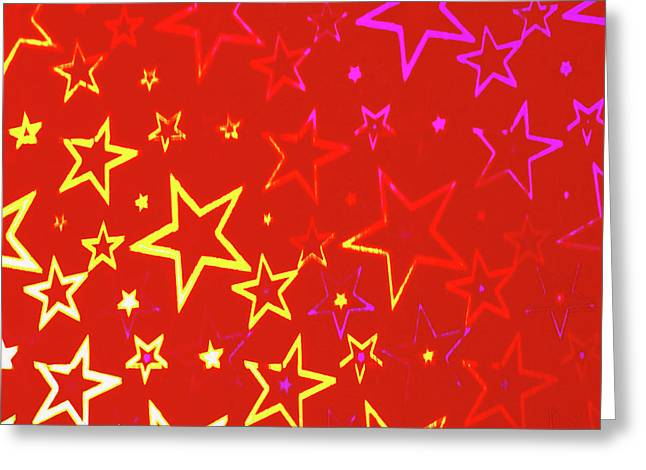 Basis-chakra Greeting Cards - Sparkling Stars No. 01 Greeting Card by Ramon Labusch