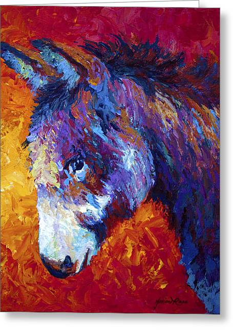 Burros Greeting Cards - Sparky Greeting Card by Marion Rose