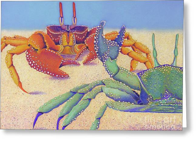 Tropical Oceans Pastels Greeting Cards - Sparring for Supper Greeting Card by Tracy L Teeter