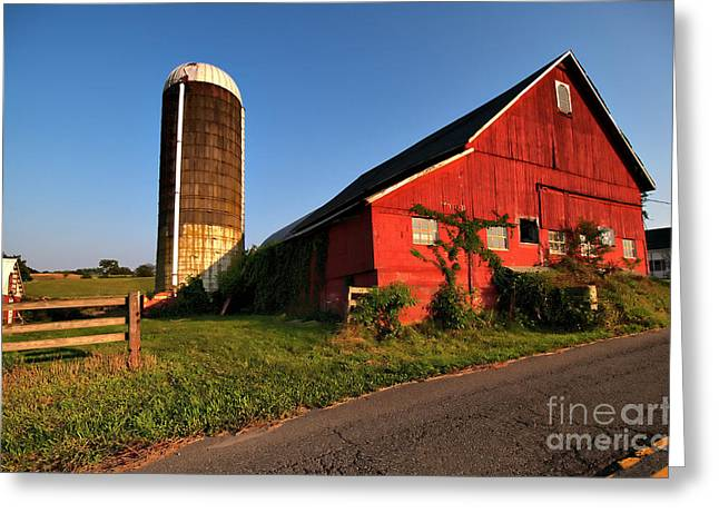 Valerie Morrison Greeting Cards - Sparta Barn Greeting Card by Valerie Morrison