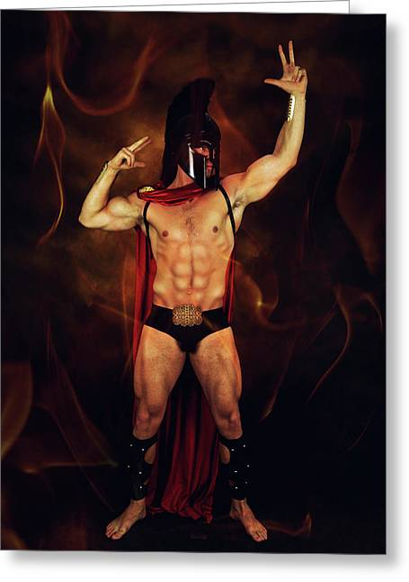 Sparta Mike  Greeting Card by Mark Ashkenazi