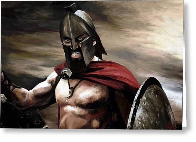 Spartan Greeting Card by James Shepherd