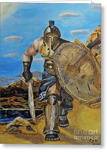 Spartan Warrior One Of The Three Hundred Greeting Card by Eric Kempson