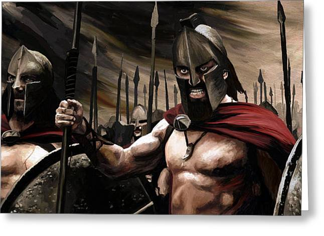 Spartans 300 Greeting Card by James Shepherd