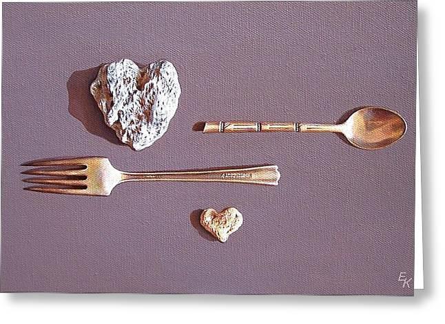 Spat Greeting Card by Elena Kolotusha