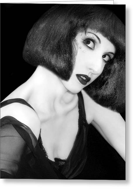 Self-portrait Photographs Greeting Cards - Speak - Self Portrait Greeting Card by Jaeda DeWalt