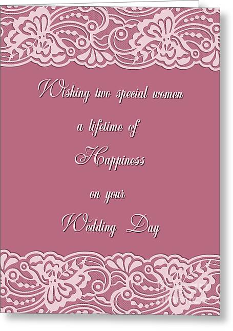 Special Occasion Greeting Cards - Special Bridal Lace Greeting Card by JH Designs