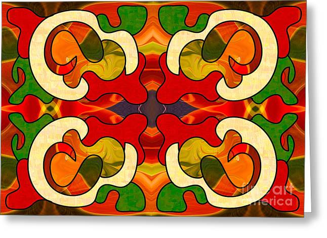 Specialized Suggestions Abstract Art By Omashte Greeting Card by Omaste Witkowski