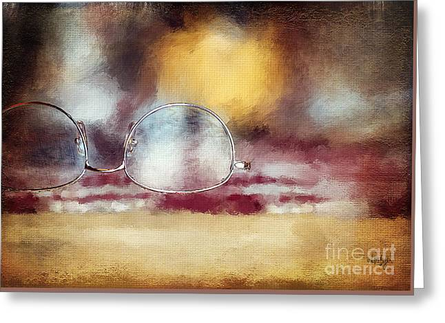 Placemat Greeting Cards - Specs Greeting Card by Lois Bryan