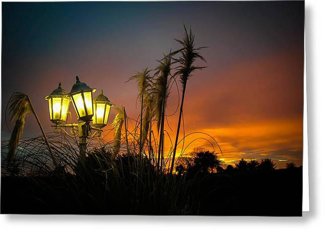 Streetlight Greeting Cards - Spectacular County Clare Sunset Greeting Card by James Truett