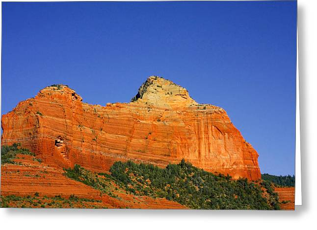 Peaks Greeting Cards - Spectacular red rocks - Sedona AZ Greeting Card by Christine Till