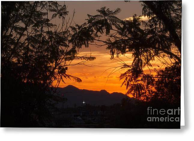 Usa Photographs Greeting Cards - Spectacular Sky Greeting Card by Anne Rodkin