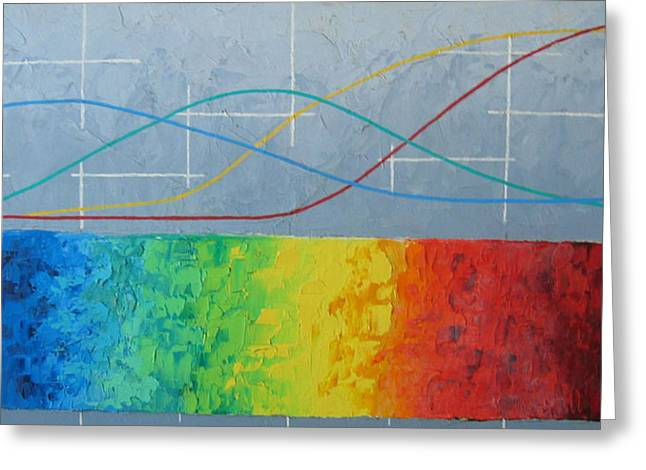 Oil On Canvas Board Greeting Cards - Spectral Analysis Greeting Card by Herb Walfoort