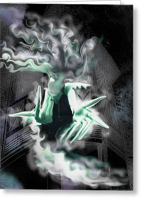 Beckon Greeting Cards - Spectral Invitation Greeting Card by Mimulux patricia no
