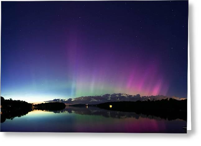 Maine Beach Greeting Cards - Spectrelight Greeting Card by Jonathan Woodbury