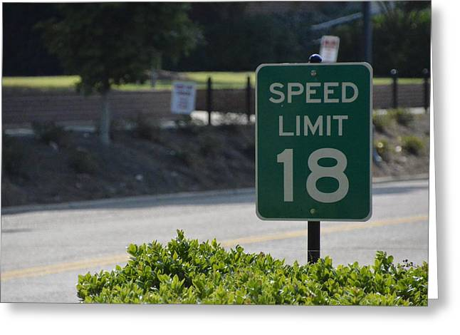 Eighteen Speed Greeting Cards - Speed Limit 18 Ole Miss Greeting Card by Luke Pickard