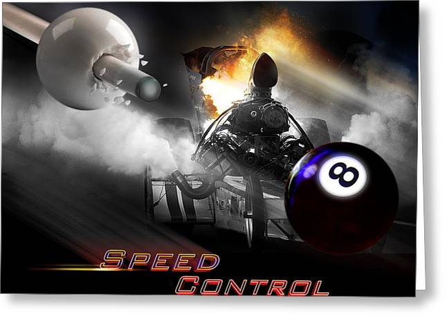 8ball Greeting Cards - Speedcontrol Greeting Card by Draw Shots