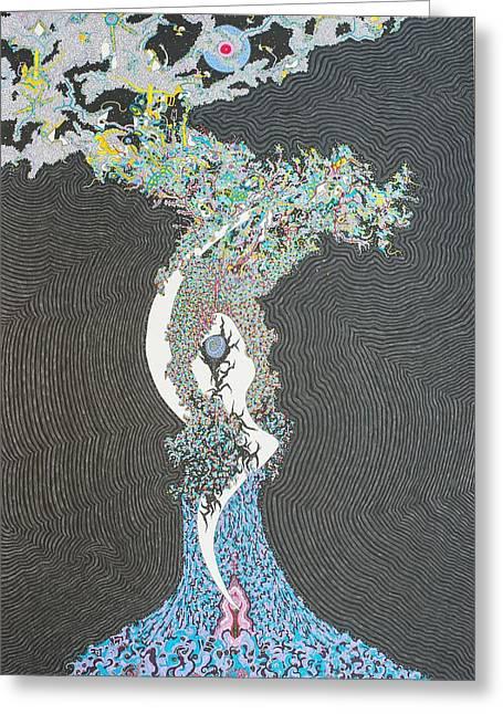 Spell Tree Greeting Card by Bobby Hermesch