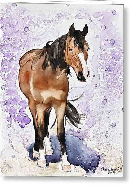 Yupo Paper Greeting Cards - Spencer Greeting Card by Shaina Stinard