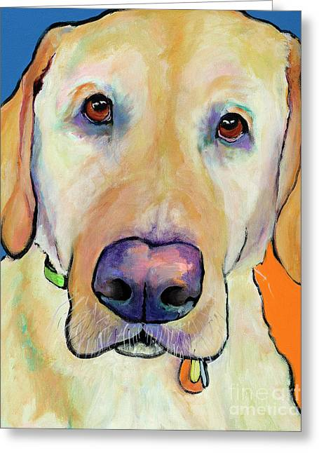 Large Format Greeting Cards - Spenser Greeting Card by Pat Saunders-White