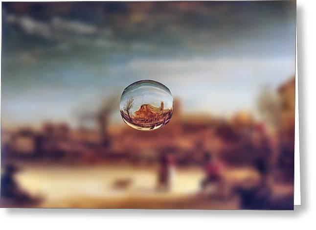 Layers Greeting Cards - Sphere 14 Rembrandt Greeting Card by David Bridburg