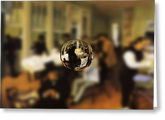 Sphere 17 Degas Greeting Card by David Bridburg
