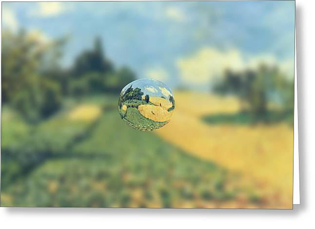 Sphere 21 Sisley Greeting Card by David Bridburg