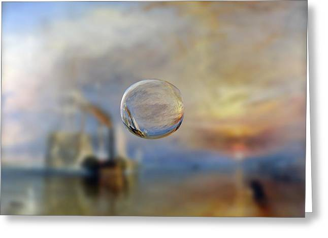 Abstract Digital Digital Art Greeting Cards - Sphere 6 Turner Greeting Card by David Bridburg