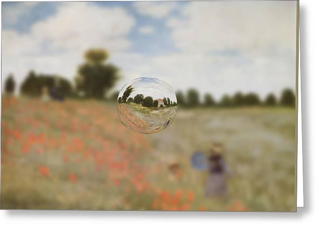 Sphere 9 Monet Greeting Card by David Bridburg