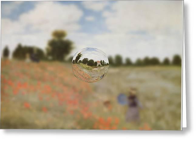 Layers Greeting Cards - Sphere 9 Monet Greeting Card by David Bridburg