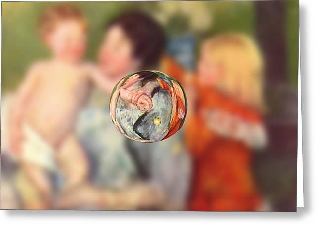 Sphere II Cassatt Greeting Card by David Bridburg
