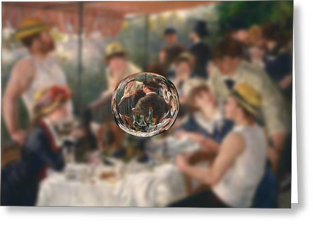 Renoir Digital Greeting Cards - Sphere 4 Renoir Greeting Card by David Bridburg