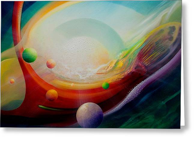 Macrocosm Greeting Cards - Sphere Q2 Greeting Card by Drazen Pavlovic