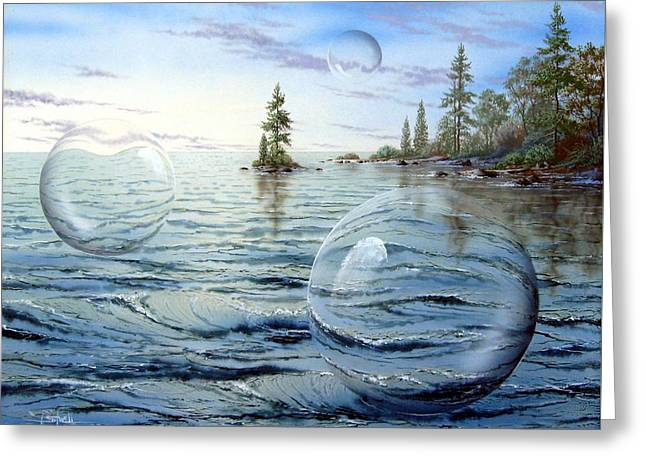 Surreal Landscape Greeting Cards - Spheres of Influence Greeting Card by Ken Shotwell