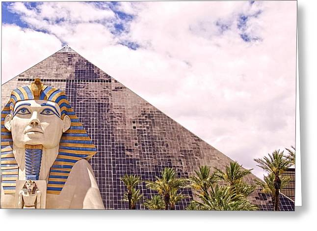 Pyramids Greeting Cards - Sphinx Clouds Greeting Card by Alice Gipson
