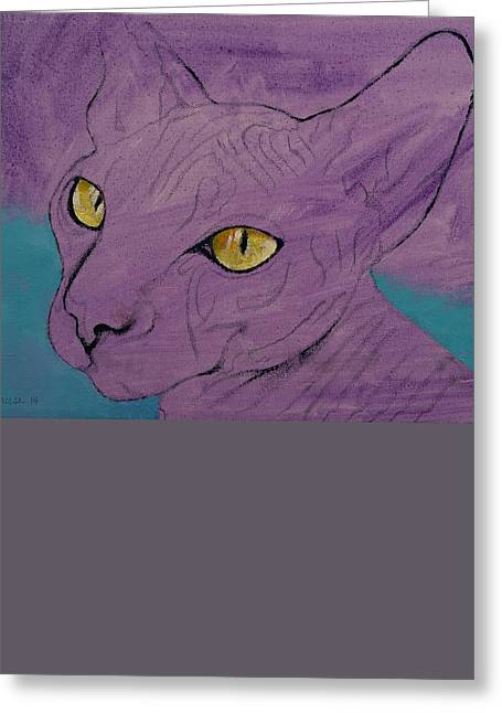 Sphinxes Greeting Cards - Sphynx Greeting Card by Michael Creese