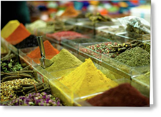 Powder Greeting Cards - Spice Market Greeting Card by Markus Stampfli