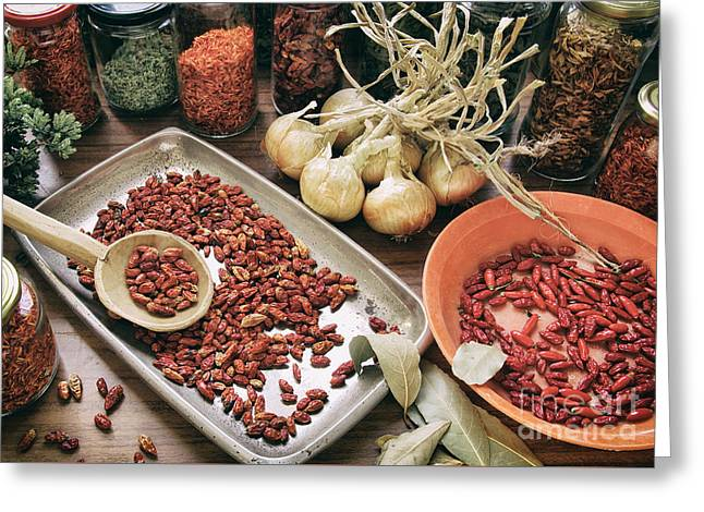 Paprika Greeting Cards - Spices and Herbs Greeting Card by Carlos Caetano