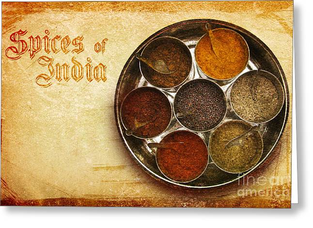 Menu Greeting Cards - Spices of India II Greeting Card by Prajakta P