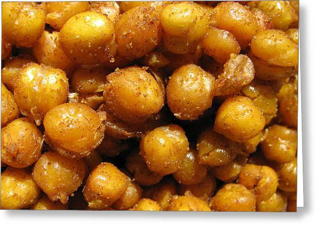 Spicy Chick Peas Greeting Card by Lindie Racz