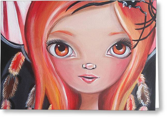 Lowbrow Prints Greeting Cards - Spider Fairy Greeting Card by Jaz Higgins