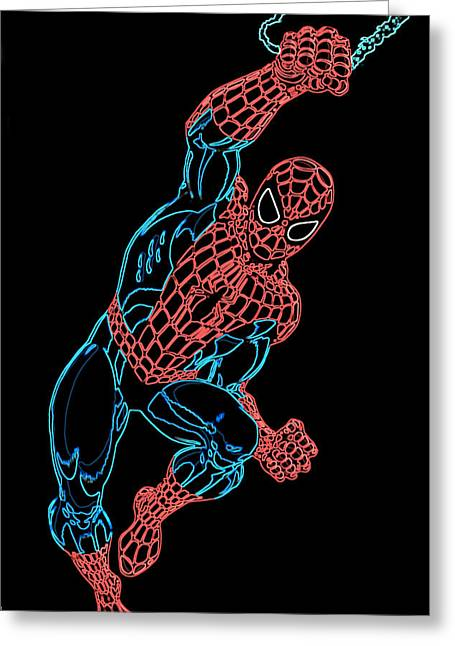 Parker Greeting Cards - Spider Man Greeting Card by DB Artist