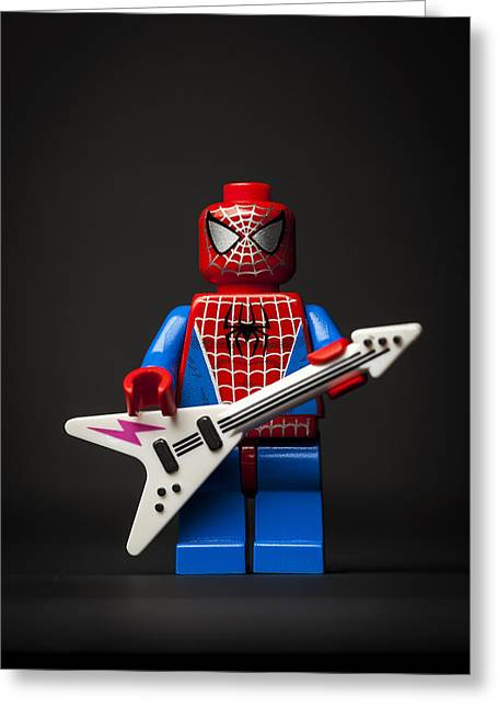 Lego Greeting Cards - Spiderman Rocks Greeting Card by Samuel Whitton