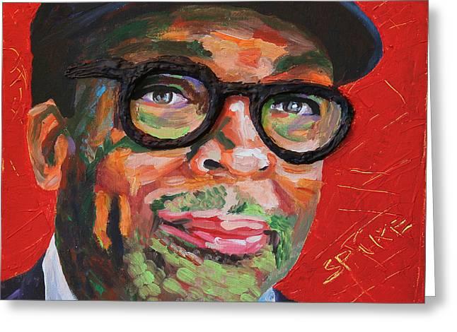 Spike Lee Portrait Greeting Card by Robert Yaeger