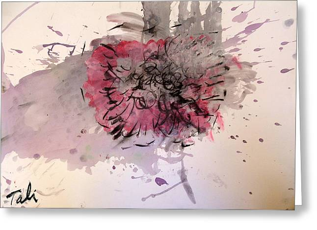 Live Music Mixed Media Greeting Cards - Spill the wine  Greeting Card by Tali Farchi