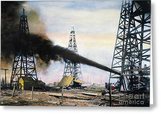 Southwest Greeting Cards - SPINDLETOP OIL POOL, c1906 Greeting Card by Granger