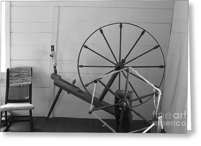 Civil Greeting Cards - Spinning Loom Greeting Card by Michael Munster