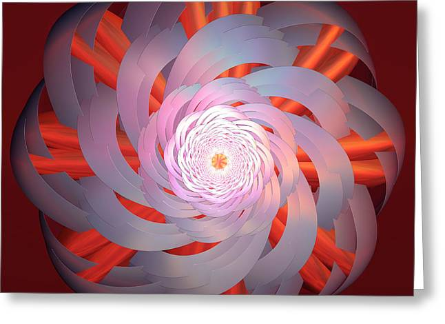 Spinning Pinwheel Greeting Card by Deborah Benoit