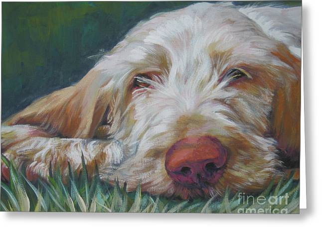 Pet Greeting Cards - Spinone Italiano Orange Greeting Card by Lee Ann Shepard